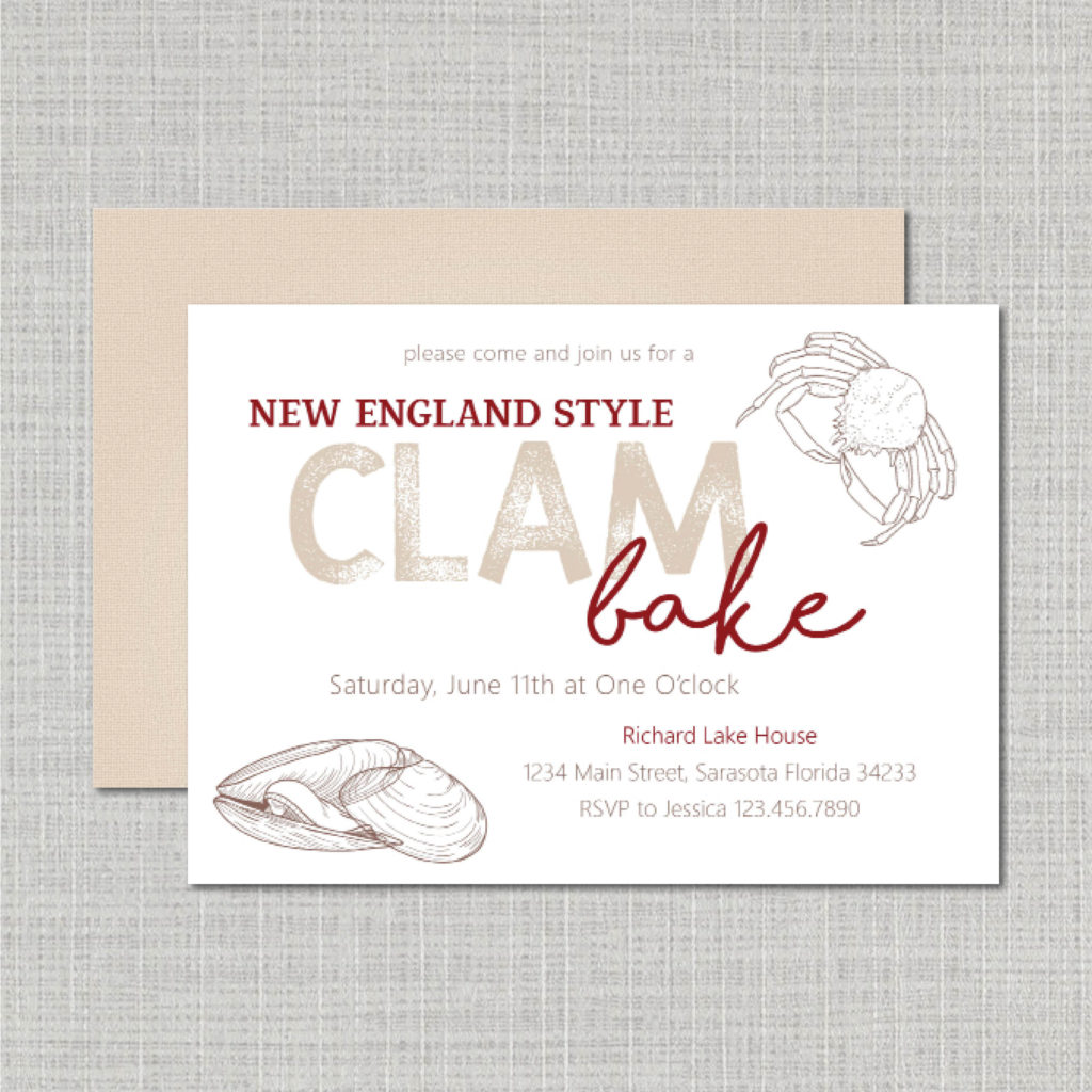 Clam Bake Invite