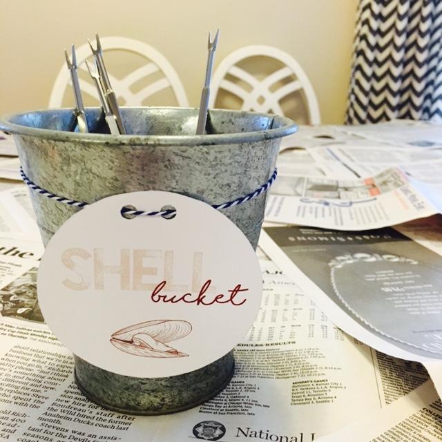 Clam Bake Shell Bucket