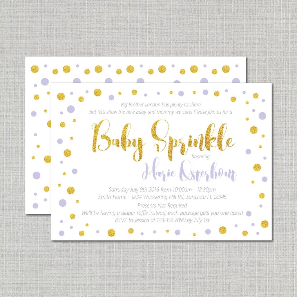 Blue Sprinkle Invite Wamp Designs