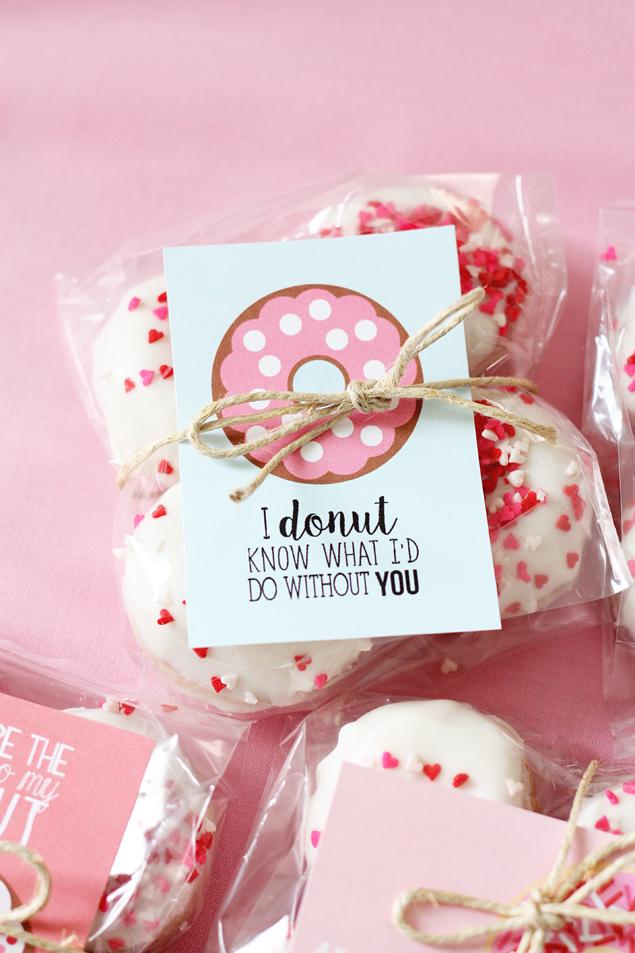Valentine's Day - donut valentine printable